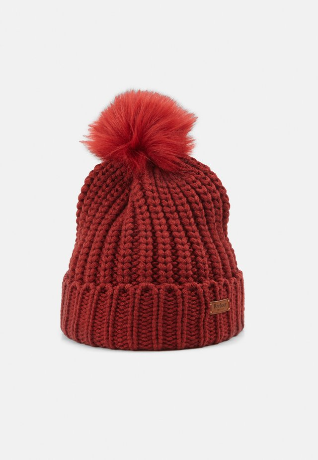 SALTBURN BEANIE - Berretto - burnt red