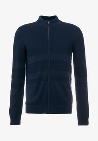 ZIPPED STRUCTURE  - Cardigan - dark blue
