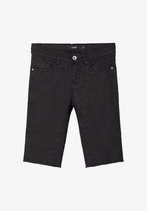 BIKER - Denim shorts - black denim