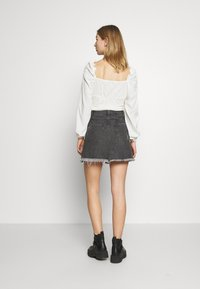 Free People - SIDECAR MINI - Denim skirt - black - 2