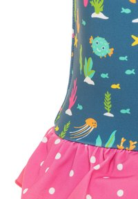 Frugi - OEKO TEX LITTLE CORAL REEF SWIMSUIT BABY - Swimsuit - blue - 2