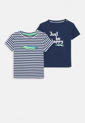 2  Pack - Print T-shirt - dark blue