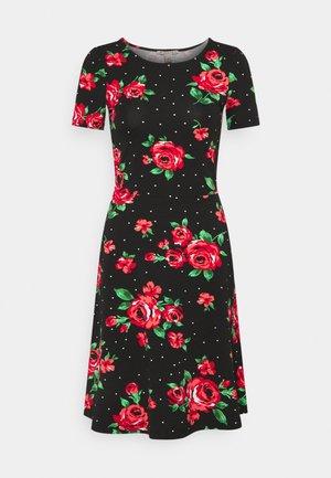Žerzejové šaty - black / pink