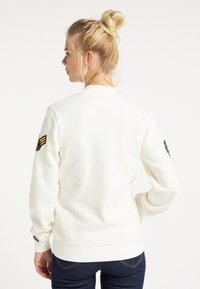 DreiMaster - Zip-up sweatshirt - wollweiss - 2