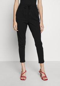 ONLY Petite - ONLPOPTRASH EASY COLOUR PANT - Trousers - black - 0