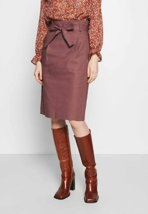 ESSENTIAL - Pencil skirt - brown rose