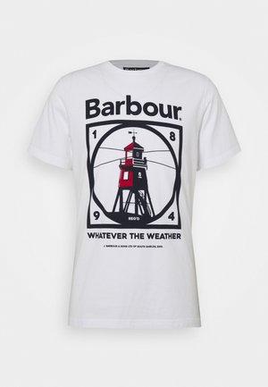 TARBERT TEE - Print T-shirt - white