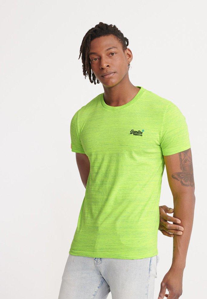 Superdry - VINTAGE CREW - Basic T-shirt - neon green space dye
