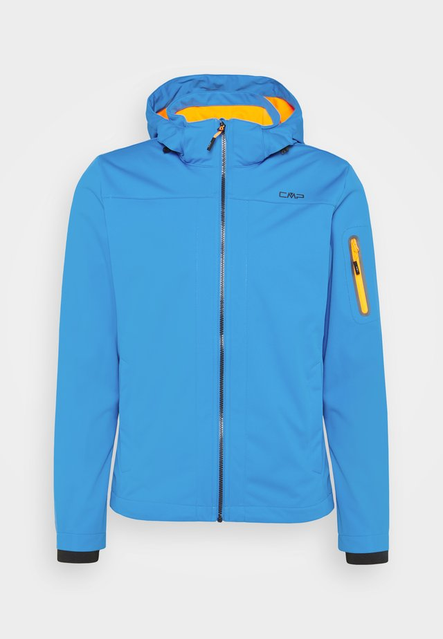 MAN ZIP HOOD JACKET - Softshelljas - regata