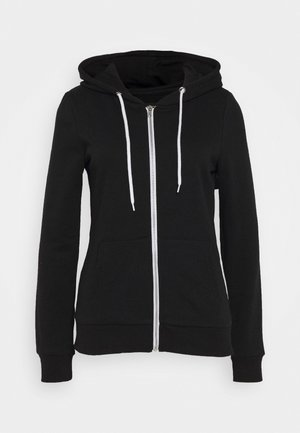 ZIP-UP HOODIE JACKET - Sweatjacke - black
