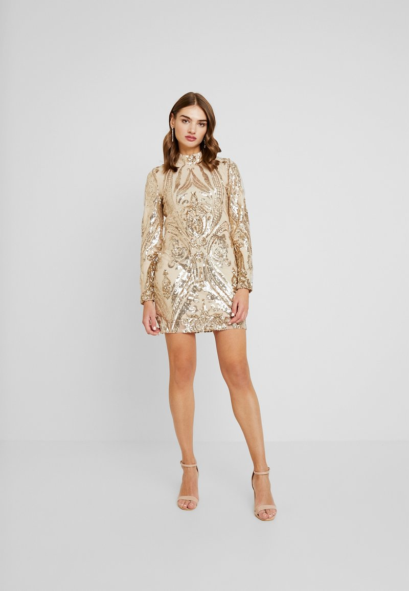 Nly by Nelly - SEQUIN DRESS - Vestito elegante - champagne