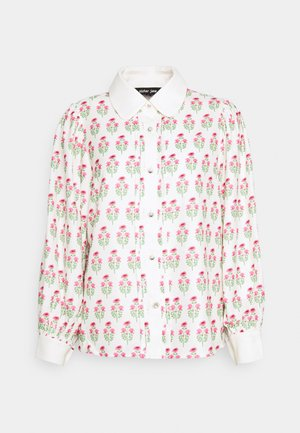 KNICK KNACK FLORAL BLOUSE - Button-down blouse - ivory