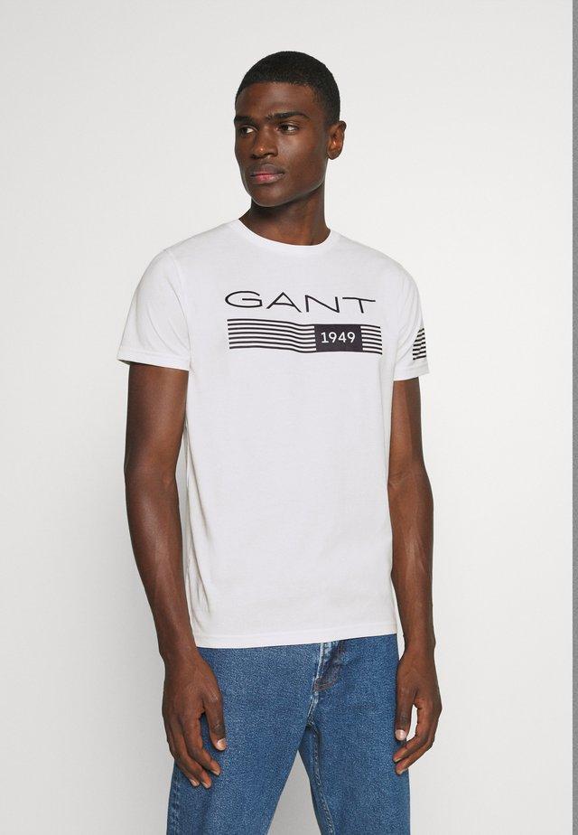 STRIPES - T-shirt med print - eggshell
