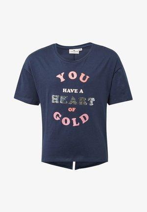 MIT GLITZER-PRINT - T-shirt print - blue