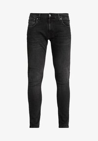 Nudie Jeans - TIGHT TERRY - Jeans Skinny Fit - black treats - 4