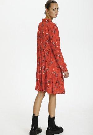 Day dress - cherry tomato-flower/dot print