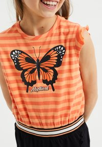 WE Fashion - Jerseyjurk - orange - 2