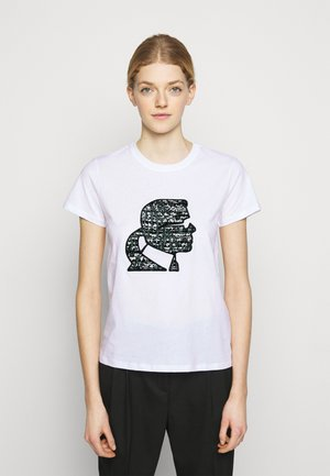 SPARKLE PROFILE  - Print T-shirt - white