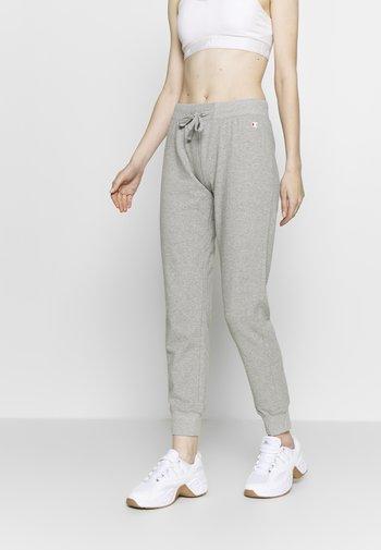 RIB CUFF PANTS - Pantalones deportivos - grey