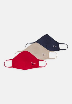 FACE COVER 3 PACK - Stoffen mondkapje - dark blue/red/beige