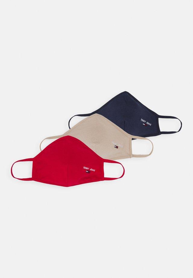FACE COVER 3 PACK - Látková maska - dark blue/red/beige