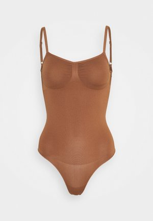 GO FIGURE SMOOTH BODYSUIT - Body - chocolate mousse