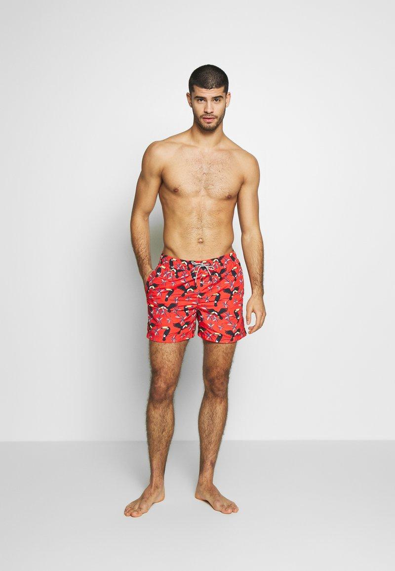 Jack & Jones - JJIARUBA JJSWIMSHORTS  - Swimming shorts - hot coral