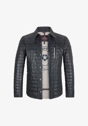 BARDOLINO - Leather jacket - nachtblau