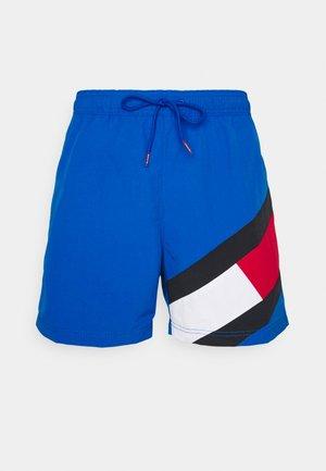SOLID FLAG DRAWSTRING - Swimming shorts - blue