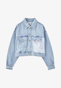 PULL&BEAR - MIT PATCHWORK IN BANDANA-OPTIK - Denim jacket - blue - 5