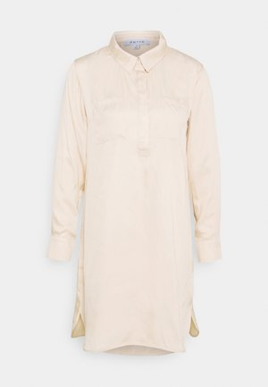 HALF PLACKET SHIRT DRESS - Shirt dress - beige