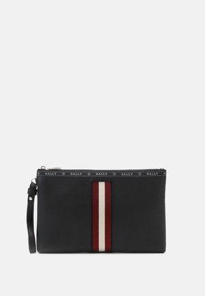 HARTLAND - Laptop bag - black/bone/red