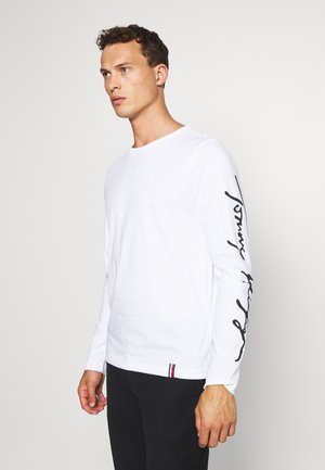 SIGNATURE SLEEVE TEE - Long sleeved top - white