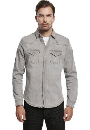 HERREN RILEY DENIMSHIRT - Shirt - grey
