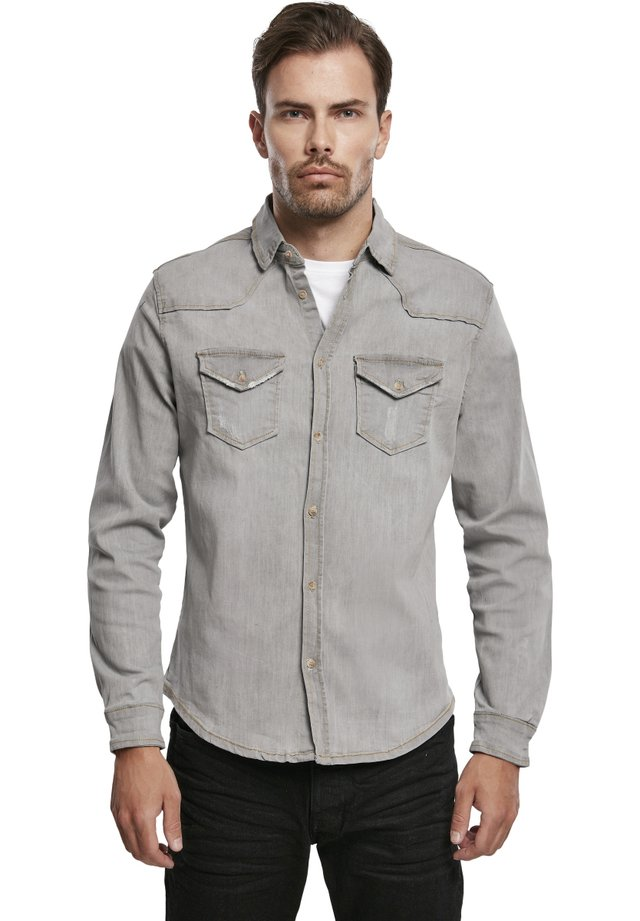 HERREN RILEY DENIMSHIRT - Camicia - grey