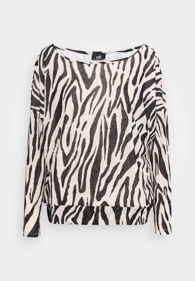 ZEBRA DOLMAN  - Long sleeved top - black