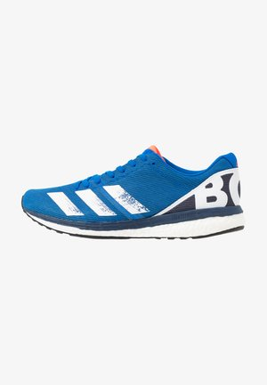 ADIZERO BOSTON 8 - Competition running shoes - glow blue/white/trace blue