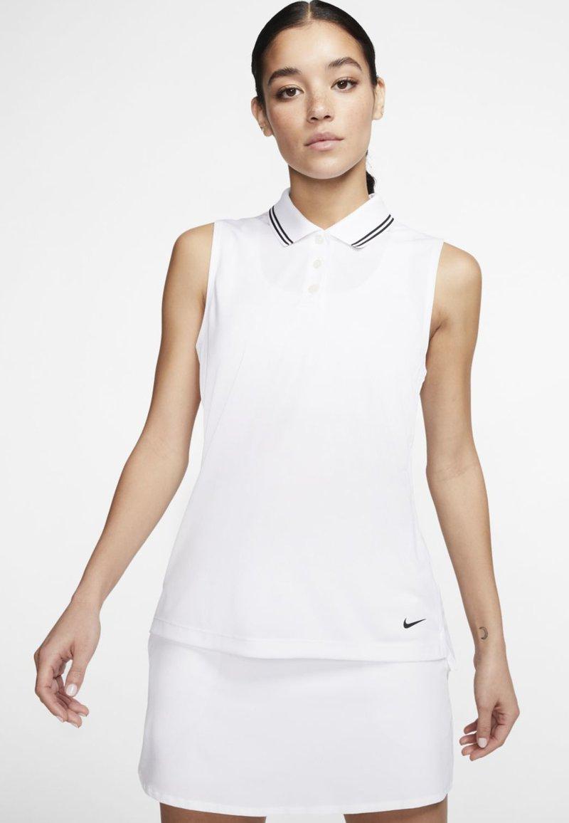 Nike Golf - DRY VICTORY - Sports shirt - white/black