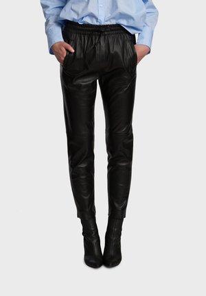 GIFT - Kožené kalhoty - black