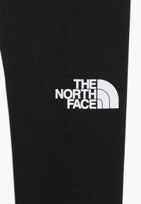 The North Face - GIRLS LEGGING BIG LOGO - Legginsy - black/white - 4