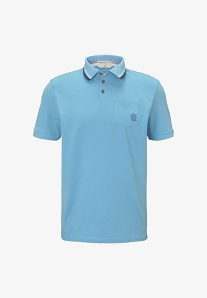 WITH TIPPINGS - Polo shirt - crystal sea blue