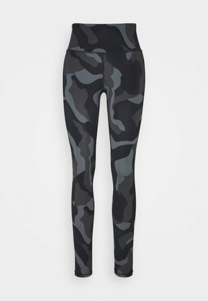 RUSH CAMO - Leggings - black