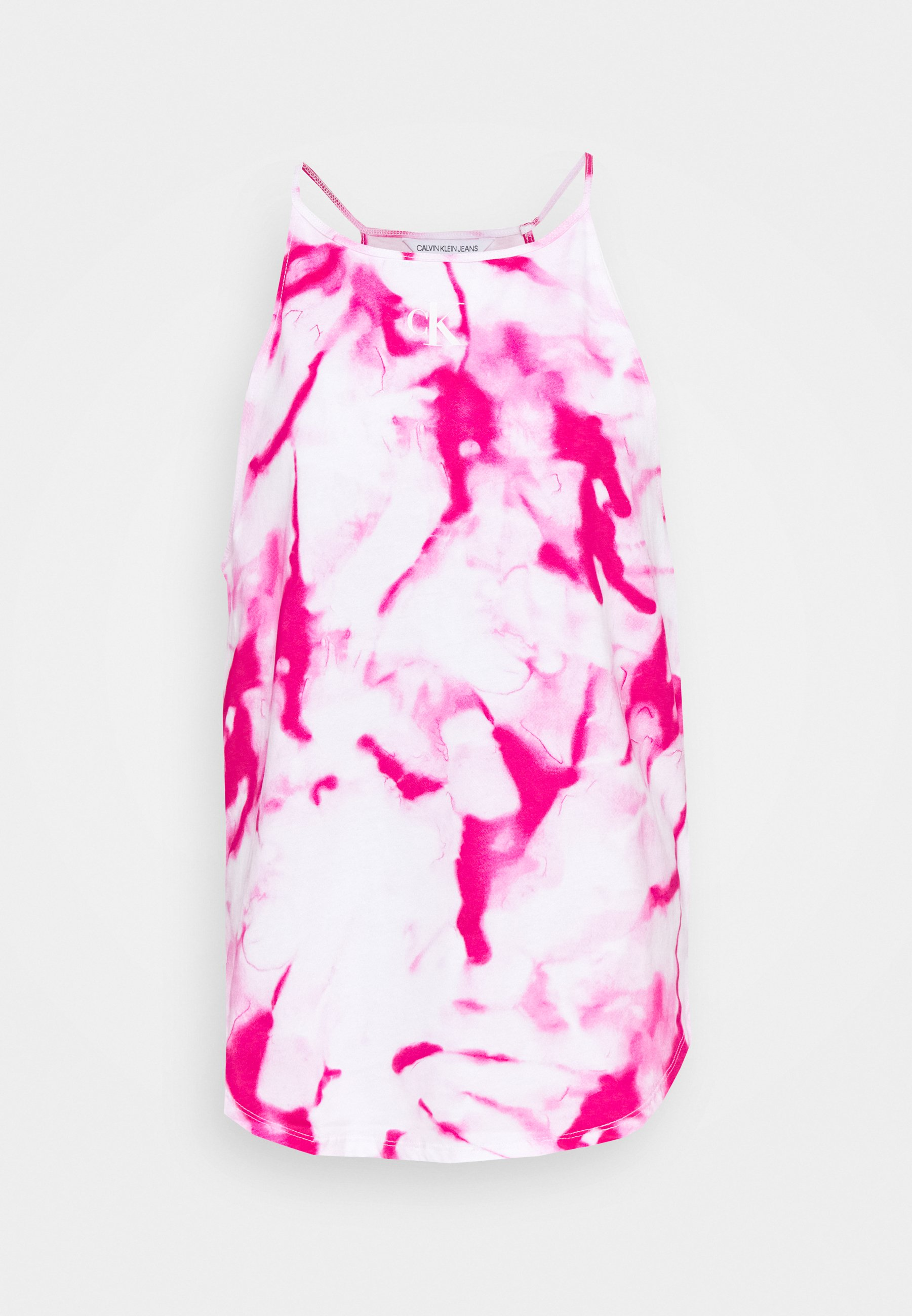 Women MICRO ON CAMISOLE - Top - cerise marble