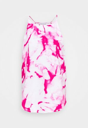 MICRO ON CAMISOLE - Top - cerise marble