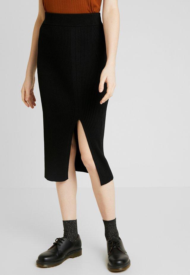 CLAIRE SPLIT SKIRT - Pencil skirt - black