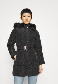 Dorothy Perkins - LONG PUFFER COAT - Winter coat - black - 0
