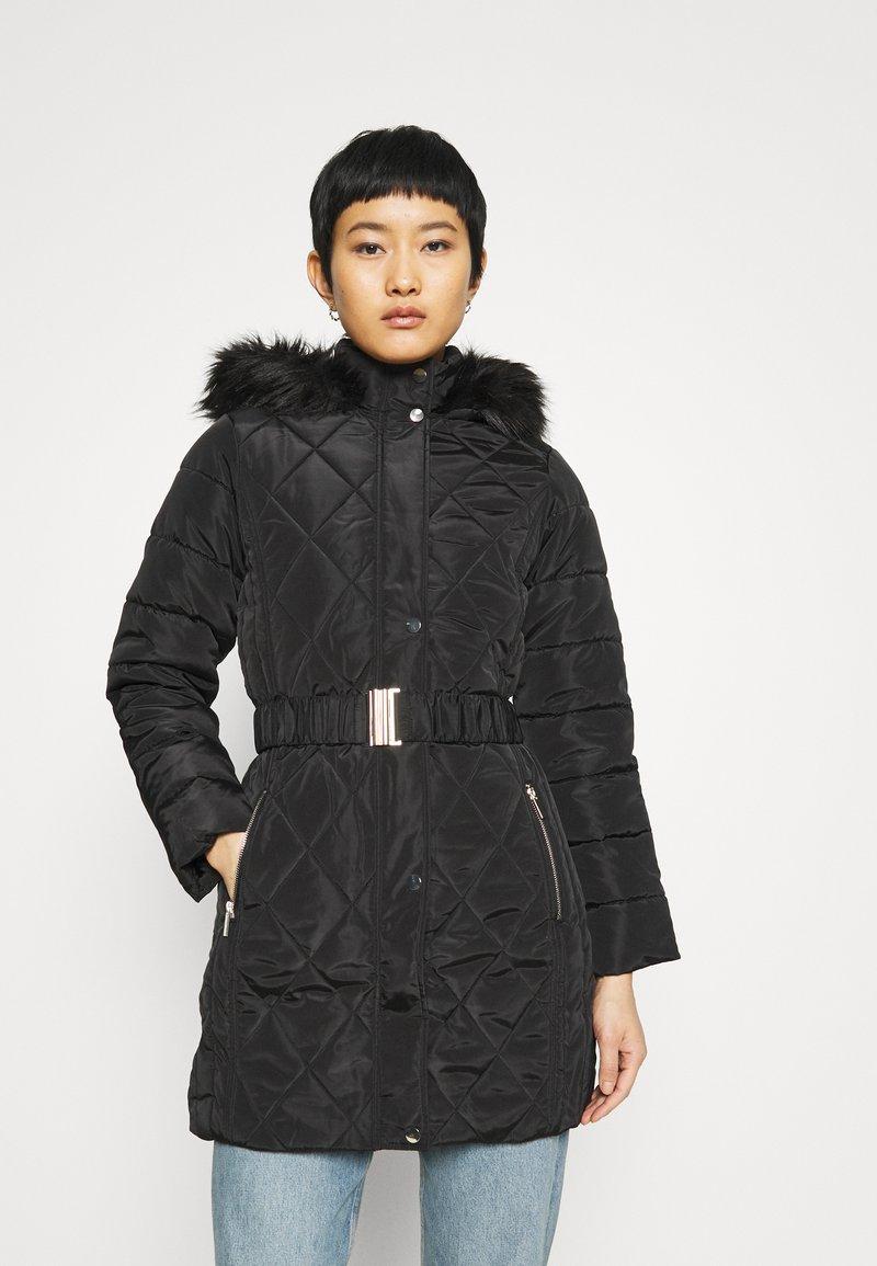 Dorothy Perkins - LONG PUFFER COAT - Winter coat - black