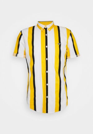 SLIM PATTERN - Shirt - blue/yellow