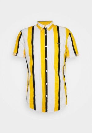 SLIM PATTERN - Camicia - blue/yellow