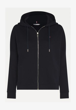 MIT REISSVERSCHLUSS - Zip-up hoodie - dw dark blue